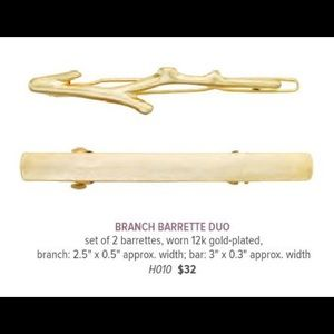 C+I Branch Barrette Duo H010